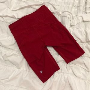 """Lululemon Fast and Free 10"""" Shorts in Dark Red"""